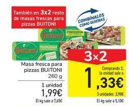 Oferta de Masa fresca para pizza BUITONI por 1,99€