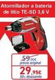 Oferta de Atornillador a batería de litio TS-SD  por 29,95€