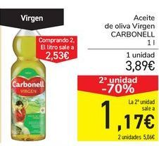 Oferta de Aceite de oliva Virgen CARBONELL por 3,89€