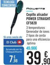Oferta de Cepillo alisador POWER STRAIGHT CF5820 por 39,9€