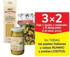 Oferta de En TODAS las pastas italianas y salsas RUMMO y pastas LOSITOS por