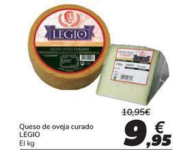 Oferta de Queso de oveja curado LEGIO por 9,95€
