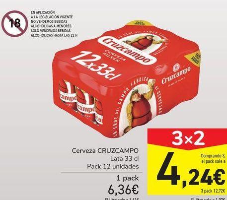 Oferta de Cerveza CRUZCAMPO por 6,36€