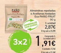 Oferta de Almendras repeladas o Avellanas tostadas Eco PAÑO FRUIT por 2,87€