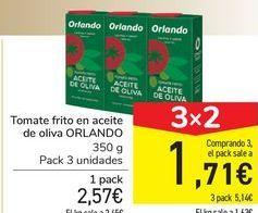 Oferta de Tomate frito en aceite de oliva ORLANDO por 2,57€