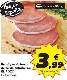 Oferta de Escalopin de lomo de cerdo extratierno ELPOZO por 3,99€