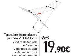 Oferta de Tendedero de metal acero pintado VILEDA Extra  por 19,9€