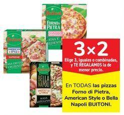 Oferta de En TODAS las pizzas Forno di Pietra, American Style o Bella Napoli BUITONI por