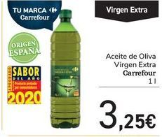 Oferta de Aceite de Oliva Virgen Extra Carrefour por 3,25€