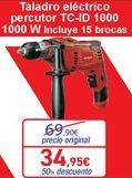 Oferta de Taladro eléctrico percutor TC-ID por 34,95€