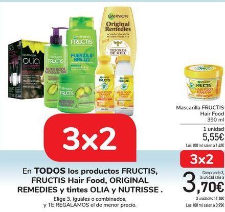 Oferta de En TODOS los productos FRUCTIS, FRUCTIS Hair Food, ORIGINAL REMEDIES y Tintes Olia y Nutrisse por