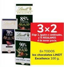 Oferta de En TODOS los chocolates LINDT Excelence por