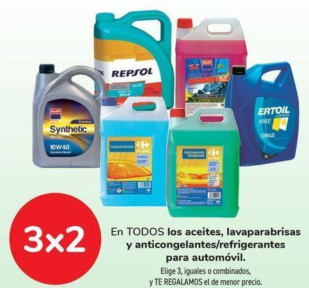 Oferta de En TODOS los aceites, lavaparabrisas y anticongelantes/refrigerantes para automóvil por