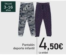 Oferta de Pantalón deporte infantil  por 4,5€