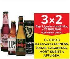 Oferta de En TODAS las cervezas GUINESS, JUDAS, LAGUNITAS, MORT SUBITE y AFFLIGEM por