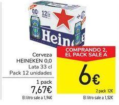 Oferta de Cerveza HEINEKEN 0,0  por 7,67€