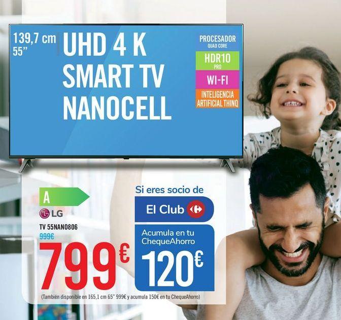 Oferta de TV 55NANO806 LG por 799€
