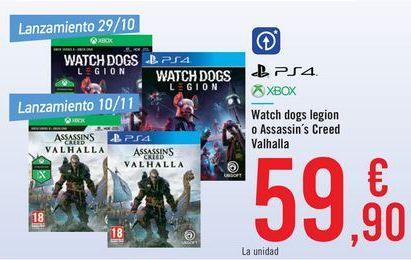 Oferta de Watch dog legion o Assassi's Creed Valhalla  por 59,9€