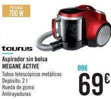 Oferta de Aspirador sin bolsa MEGANE ACTIVE Taurus  por 69€