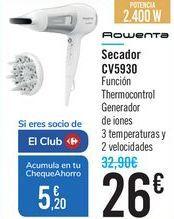 Oferta de Secador CV5930 Rowenta por 26€