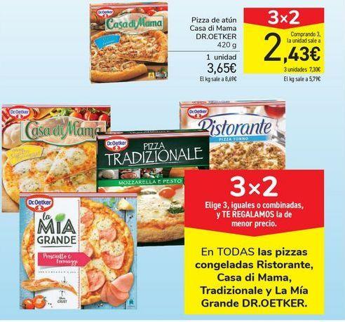 Oferta de Pizza de atún Casa di Mama DR.OETKER por 3,65€