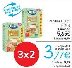 Oferta de Papillas HERO  por 5,65€