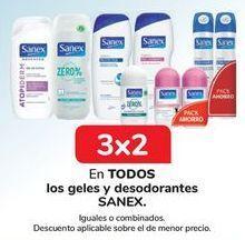 Oferta de En TODOS los geles y desodorantes SANEX por