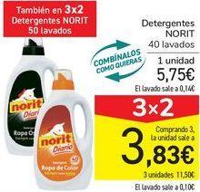 Oferta de Detergentes NORIT  por 5,75€