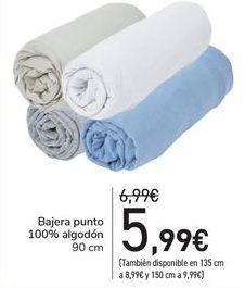Oferta de Bajera punto 100% algodón  por 5,99€