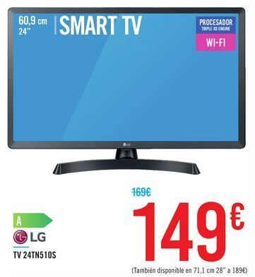 Oferta de TV 24TN510S LG por 149€