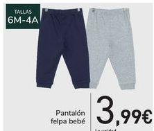 Oferta de Pantalón felpa bebé  por 3,99€