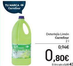Oferta de Deterlegía Limón Carrefour  por 0,8€