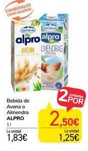 Oferta de Bebida de Avena o Almendra Alpro por 1,83€