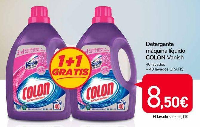 Oferta de Detergente máquina líquido Colon Vanish por 8,5€
