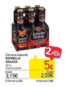Oferta de Cerveza especial Estrella Galicia por 3,15€