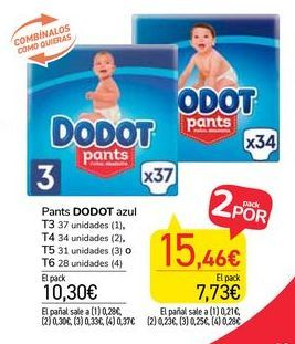 Oferta de Pants Dodot azul por 10,3€