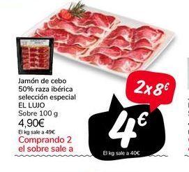 Oferta de Jamón de cebo 50% raza ibérica selección especial EL LUJO por 4,9€