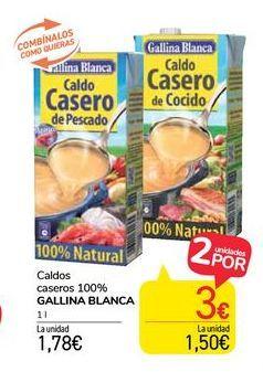 Oferta de Caldos caseros 100% Gallina Blanca por 1,78€