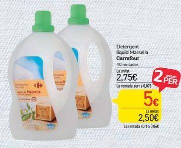Oferta de Detergente líquido Marsella Carrefour por 2,75€