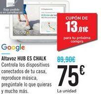 Oferta de Altavoz HUB ES CHALK Google  por 75€