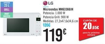 Oferta de Microondas MH6336IH LG por 119€