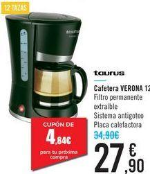 Oferta de Cafetera VERONA 12 Taurus  por 27,9€