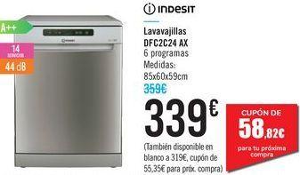 Oferta de Lavavajillas DFC2C24 AX Indesit  por 339€