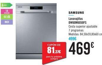 Oferta de Lavavajillas DW60M6050FS SAMSUNG  por 469€