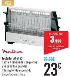 Oferta de Tostadora A15453 Moulinex por 23€