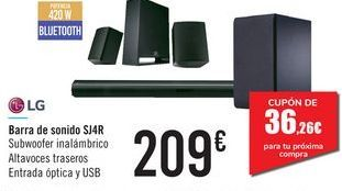 Oferta de Barra de sonido SJ4R LG por 209€