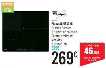 Oferta de Placa ACM63ONE Whirlpool  por 269€