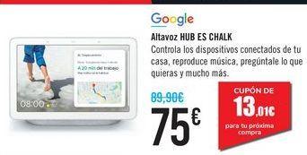 Oferta de Altavoz HUB ES CHALK por 75€