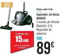 Oferta de Aspirador sin bolsa R04825 Rowenta  por 89€