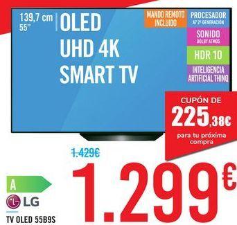 """Oferta de TV 55"""" QLED UHD 4K SMART TV 55B9S LG por 1299€"""